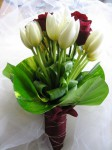 red rose &amp; white tulips 1