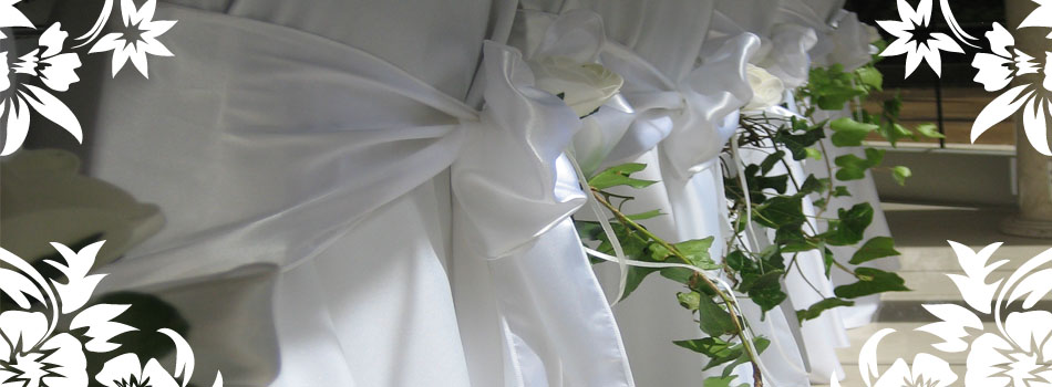 Receptions - Chair covers &amp; sash hire