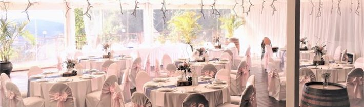 Pink and blue theme at St Bernard's Hotel last what a very pretty look…