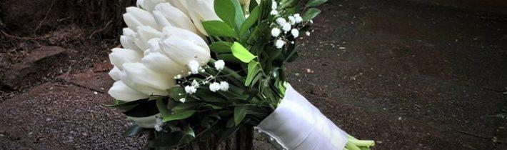 White tulips for a winter wedding for Emily & Daniel yesterday St Bernards Hotel…